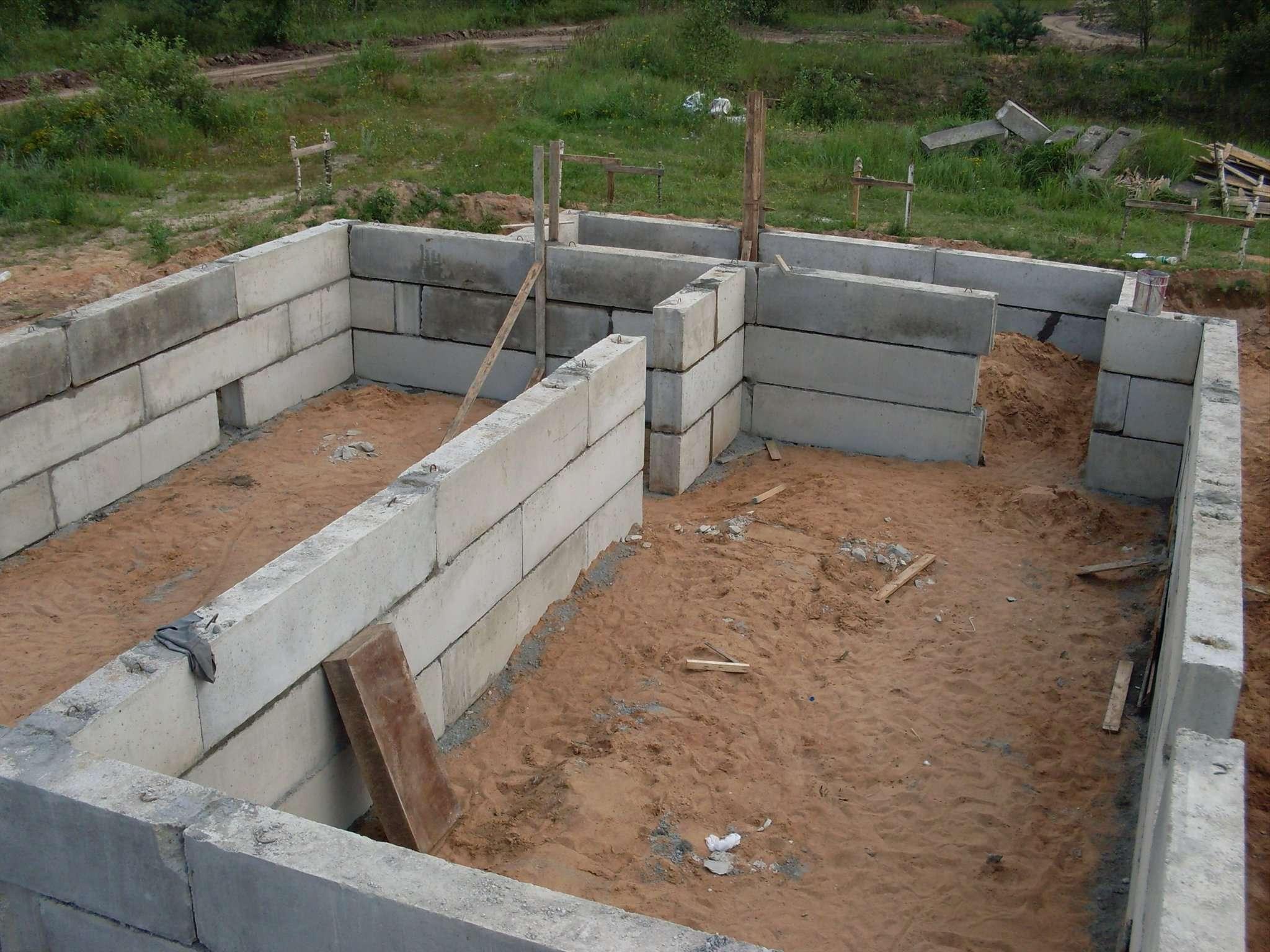 Фундамент из блоков 93