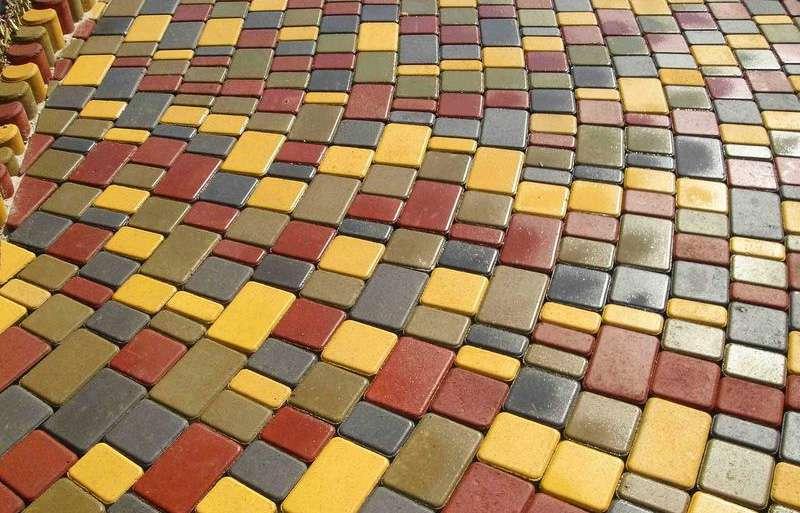 виды вибропрессованной тротуарной плитки